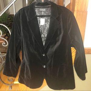 Lane Bryant NWT Black Velvet Jacket Size 28